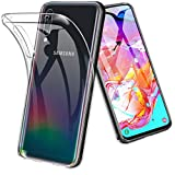 TOPACE Hülle für Samsung Galaxy A70, Ultra Schlank Softschale Silikon TPU Stoßfest Handyhülle Schutzhülle Anti-Fingerabdruck Shock Absorption Cover für Samsung Galaxy A70 (Transparent)