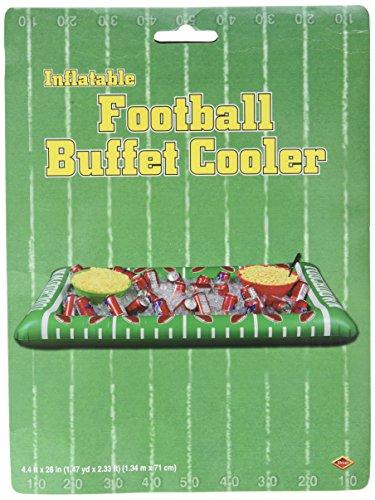 Beistle S54253AZ2 Aufblasbare Fussball-Buffet-Kühler, 2-teilig, grün/weiß 1 Teil One Size Green/White/Brown