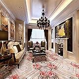 Jade Muster Rose Marmor Parkett 3D Boden verdickt Wohnzimmer Wandbild Schlafzimmer Tapete 250cm(L) x175cm(W)