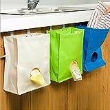 Küchenschrank Müll hängen Aufbewahrungstasche Home Badezimmer Halter Veranstalter -Tasche Tür zurück Müllsäcke sammeln- Nehmen Sie die Tasche Hängetasche Zurück Trümmer Finishing Box Oxford Tuch