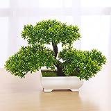 WEII Simulation Pflanze Bonsai Mini Begrüßung Kiefer Tischplatte Dekoration Kleine Topf Dekoration Ornamente,Grün,Einheitsgröße
