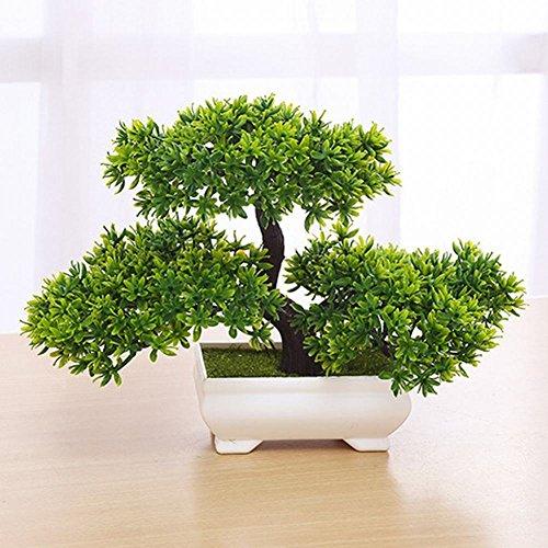 WEII Simulation Pflanze Bonsai Mini Begrüßung Kiefer Tischplatte Dekoration Kleine Topf Dekoration Ornamente,Grün,Einheitsgröße -