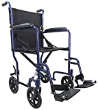 Aidapt Blue Steel Compact Transport Wheelchair (Eligible for VAT relief in the UK)