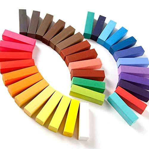 Haarkreide-Set mit 36 Farben für den Heimgebrauch, ungiftig, auswaschbar, Pastellfarben [version:x9.4] by DELIAWINTERFEL