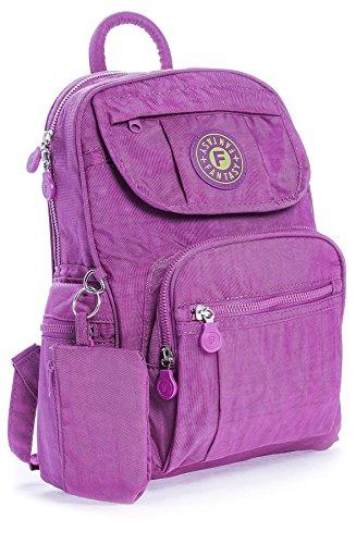 BHBS Unisexe léger Sac à dos Voyage Petit Tissu 24x30x15 cm (LxHxP) (SB013K Orchid Purple)