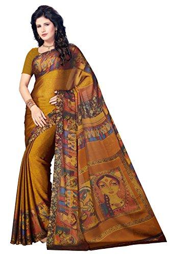 Rani Saahiba Satin Georgette Digital Print Saree ( SKR3766_Mustard )