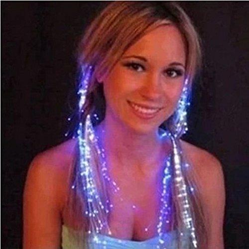 Vi.yo LED leuchten Haar Barrettes Multicolor Blinkende Haar Erweiterungen Faseroptik Haarclips Lichter Party Supplies Weihnachten (Und Mädchen Kostüm Blitz)