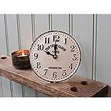 Chic Antique Reloj de Mesa Blanco Crema Antiguo Town Reloj Metal Nuevo Reloj Reloj de Cocina Antiguo Vintage