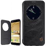 Étui à rabat Samsung Galaxy S7Edge en cuir noir, Cuir, Noir classique, Smart View Windows Leather Flip Case