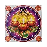 GenNxt Trends Diwali Special Rangoli Pattern Floor Stickers- Waterproof (1 Pc)