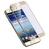 Blufox* 3D Panzerglas-Folie gold Samsung Galaxy S6 Edge Gold Vollabdeckung curved Glasfolie Hartglas Gorilla Glas Glas-s Samsung Galaxy S6 Edge G925