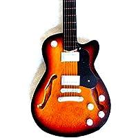 Guitare Miniature Décoration Guitare Guitar Gibson Turquoise 24cm main en bois # 135