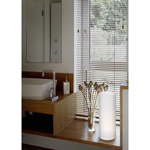 Glas Tisch Lampe (EGLO Tischleuchte GEO aus Glas mit Schalter, E27, weiss, 12 x 12 x 35 cm)