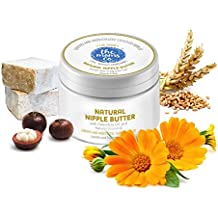 The Moms Co. Natural Nipple Butter (25g), Heal Cracked or Sore Nipples for with Nipple Cream for Breastfeeding Moms