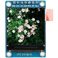 Módulo de pantalla LCD en color IPS de 1.3 pulgadas 240x240 RGB 3.3V SPI ST7735 Vivo e intuitivo, 4 agujeros de montaje para Arduino