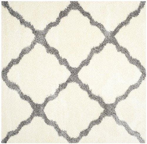 Safavieh Shaggy Teppich, SGM866, Gewebter Polypropylen Quadratische, Elfenbein/Grau, 200 x 200 cm - Ivory Square Teppich