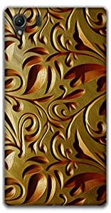 The Racoon Lean Gold Weave hard plastic printed back case / cover for Sony Xperia Z1