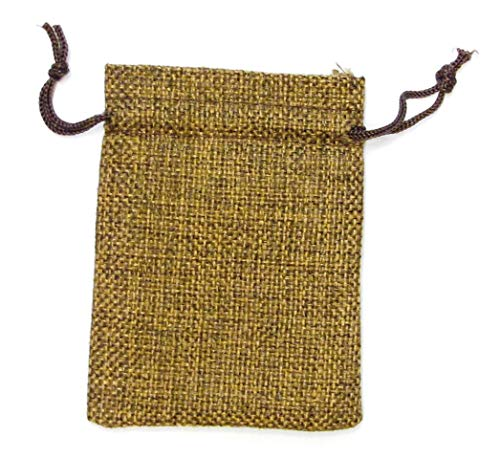 """Package 50pcs Linen Bags, 7 x 9cm (2.75x3.54"""") Wedding Favors Gift Drawstring Bags Jewelry Pouches Candy Mesh Pouches Jewelry, Festival, Bathroom Soaps, Makeup or Wedding Party Bridal Shower Birthday Christmas"""