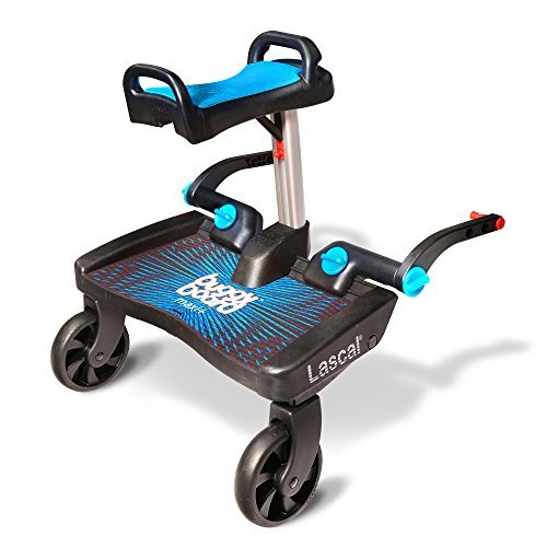 *Lascal T-LAS-02540 BuggyBoard Maxi+ mit Saddle – Buggy Board Plus, blau*