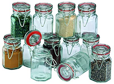 Apollo Clip Sealed Spice Jars, Set of 12 from Apollo