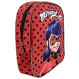 """Perletti - Sac à dos """"Miraculous, les aventures de Ladybug et Chat Noir"""" pour fille et fillette - 30 x 24 x 10 cm - Rouge"""