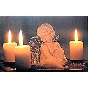 Tinas Collection LED Bild mit dem Motiv -Engel mit 3 LED Lampen-, 42 x 27 cm