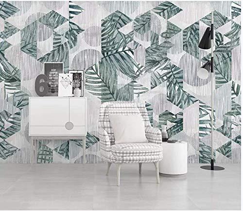 tapete nordische moderne minimalistische tropische pflanze geometrische linie TV hintergrund wandmalerei, 430cm * 300cm -