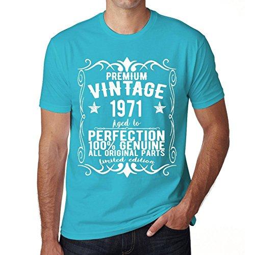 1971 maglietta blu uomo compleanno magliette maglietta regalo Blu
