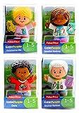 Fisher Price - Littel People - Lot de 4pcs Figurines - Dentiste Audrey, Chris, Docteur Nathan & Veterinaire Ella - Neuf