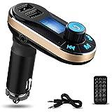 Reproductor de MP3 Bluetooth para el Coche Yokkao® Transmisor FM Mando a Distancia, Manos Libres Ta
