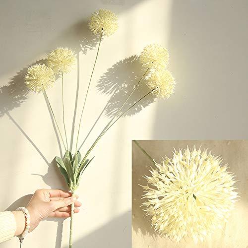 OSYARD Wohnaccessoires & Deko Kunstblumen,Künstliche Seide Fake Blumen Löwenzahn Floral Hochzeits Bouquet Hydrangea Decor DIY Blumenschmuck Gefälschte Blumen Home Party 5 Köpfe Bouquet