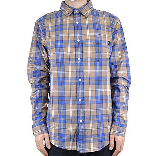 Tan Plaid Shirt (Stussy CAMICIA UOMO PENN PLAID SHIRT 111881 (L - TAN))