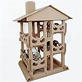 QNMM Cat Corrugated Tower Villa 4Th Floor Katze Indoor-Aktivität Wohnung Haustier Katze Spielzeug Entertainment Rest Katzenhaus Geeignet Für Kleine Und Mittlere Katzen