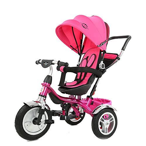 Little Bambino 4 in 1 Triciclo con Parasole per Bambini da 1 a 6 Anni di età | Buggy Triciclo e Bici a Spinta con M