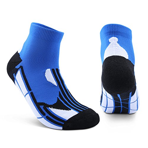 AIKER Athletic Socks Performance Cushion Crew Socks Quarter Socks For Sports Running And Casual Use (2 Pairs)