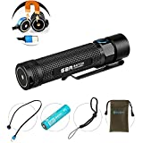 Olight® Max 1020 Lumens S2R Baton LED Torch Rechargeable Flashlight EDC with Cree XM-L2 LED Including 1 x Customized 3200mAh 18650 Battery