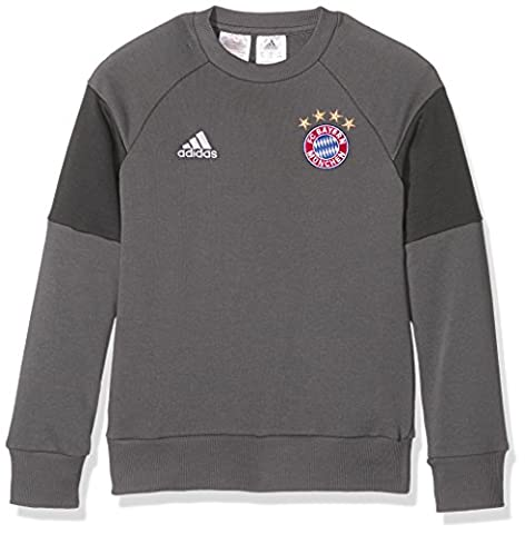 adidas - FC Bayern - München - Sweat-Shirt - Garçon - Gris (Granite/Dark Grey Heather Solid Grey) - FR: 13-14 ans (Taille Fabricant: 164 cm)