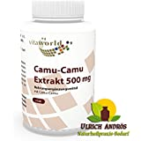 Camu Camu Extrait 500mg 120 Capsules végétales Vita World 125mg de vitamine C naturelle par capsule