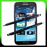 2x SCHWARZ tomaxx Stylus Pen Eingabestift mit Kugelschreiber für Apple iPhone 6 6S iPhone 6 Plus 6S Plus, Samsung Galaxy S3 S4 S5 Mini Neo Galaxy S6 S6 Edge Plus, Huawei Mate S Honor ShotX 7 5X Y6 Y5 Nexus 6P P8 Lite G8 Google 5X HTC One M8 M9 A9, LG Nexus 5X G3 G4 mini, Microsoft Lumia 640 550 650 Lumia 950 950 XL, Sony Xperia Z5, Xperia Z5 Compact / Premium Xperia Z3 Z3+, LG Class, LG Zero