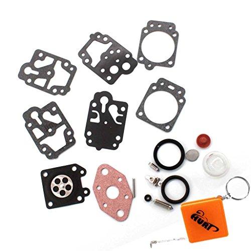 HURI Vergaser Reparatursatz Membransatz Membran kit für für Motorsense Fuxtec Rotfuchs Tarus Timbertech BC52, BC520