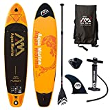 Aqua Marina Fusion Paddel Isup Sup Stand up Paddle Board, Orange-Schwarz, 330cm x75cm x 15cm