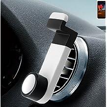 Per ZTE Blade V9 Vita Porta Telefono Smartphone monte titolare montaggio Supporto per auto Universal bianco Staffa Culla Cruscotto Facile da installare per ZTE Blade V9 Vita Semplice, funzionale, sicura, confortevole, universalmente - K-S-Trade(R)