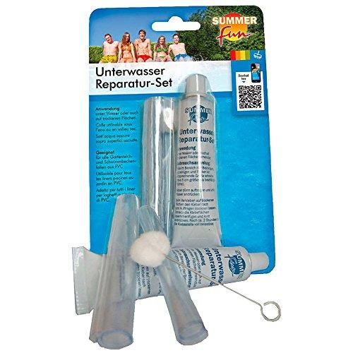 Summerfun-Pool Unterwasserkleber Reperatursatz Kleber + PVC-Folie auch für unter Wasser Pool PVC