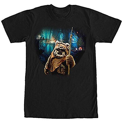 star-wars-tree-village-wicket-ewok-mens-graphic-t-shirt