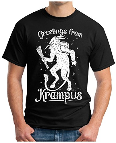 OM3 - GREETINGS-from-KRAMPUS - T-Shirt GEEK, S - 5XL Schwarz