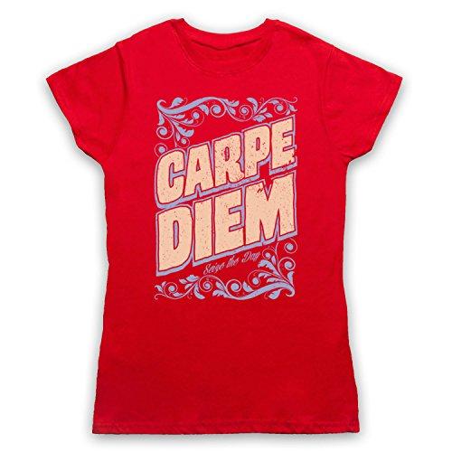 Carpe Diem Seize The Day Damen T-Shirt Rot