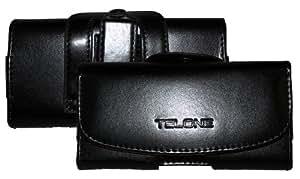 Joli sac banane viva pour huawei ascend p7 noir avec passant de ceinture et clip de protection en cuir synthétique haut de gamme :