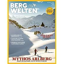 Bergwelten – Das Magazin für alpine Lebensfreude, Aktuelle Ausgabe Dez 16/Jan 17, Themen u.a.: Mythos Arlberg, Übernachten im Iglu, Ausflug in den Taunus, Oasen-Wandern in Marokko, die besten Hütten-Rezepte / Kochrezepte