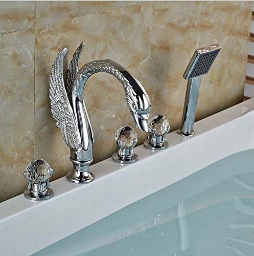 Gowe Laiton Chrome poli de salle de bain douche robinet Baignoire Mélangeur d'évier robinet mélangeur
