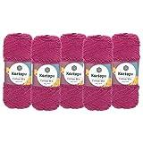 5 x 100g Strickgarn Kartopu Cotton Mix Strickwolle Häkelgarn Sommergarn Farbwahl, Farbe:2359S Magenta